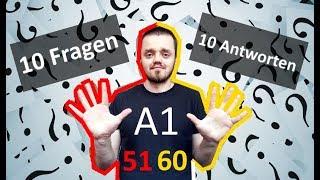 Разговорный немецкий язык, урок 6 (51-60): 10 вопросов   10 ответов