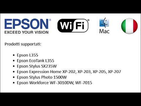 come configurare stampanti epson per utilizzare il wi fi 2013 mac it youtube. Black Bedroom Furniture Sets. Home Design Ideas