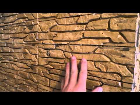 Отделка печи декоративным камнем (Finishing decorative stone oven)