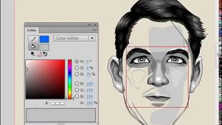 Illustration Portrait. Officer of the Navy - Speed Drawing