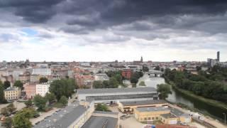 Wrocław z góry - komin Elektrociepłowni
