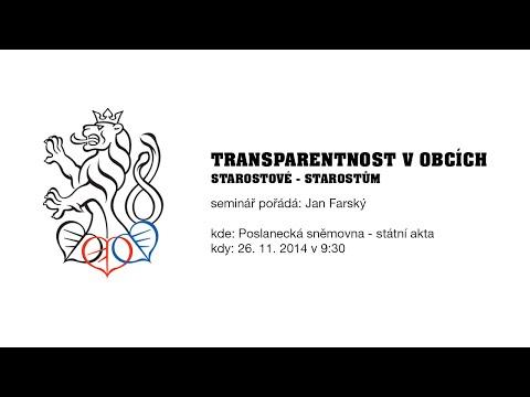 Transparentnost v obcích