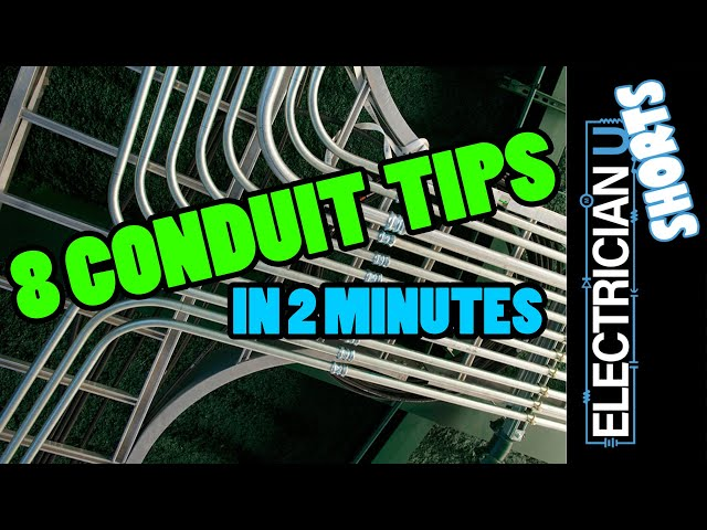 SHORTS - 8 TIPS For Working With EMT Conduit - (in 2 minutes!)