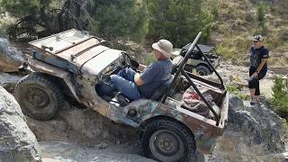 Grampas Jeep and His Grandchildren on 5 Mile Pass