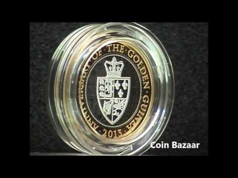 2013 Golden Guinea 350th Anniversary Two Pound Silver Piedfort Coin Royal Mint