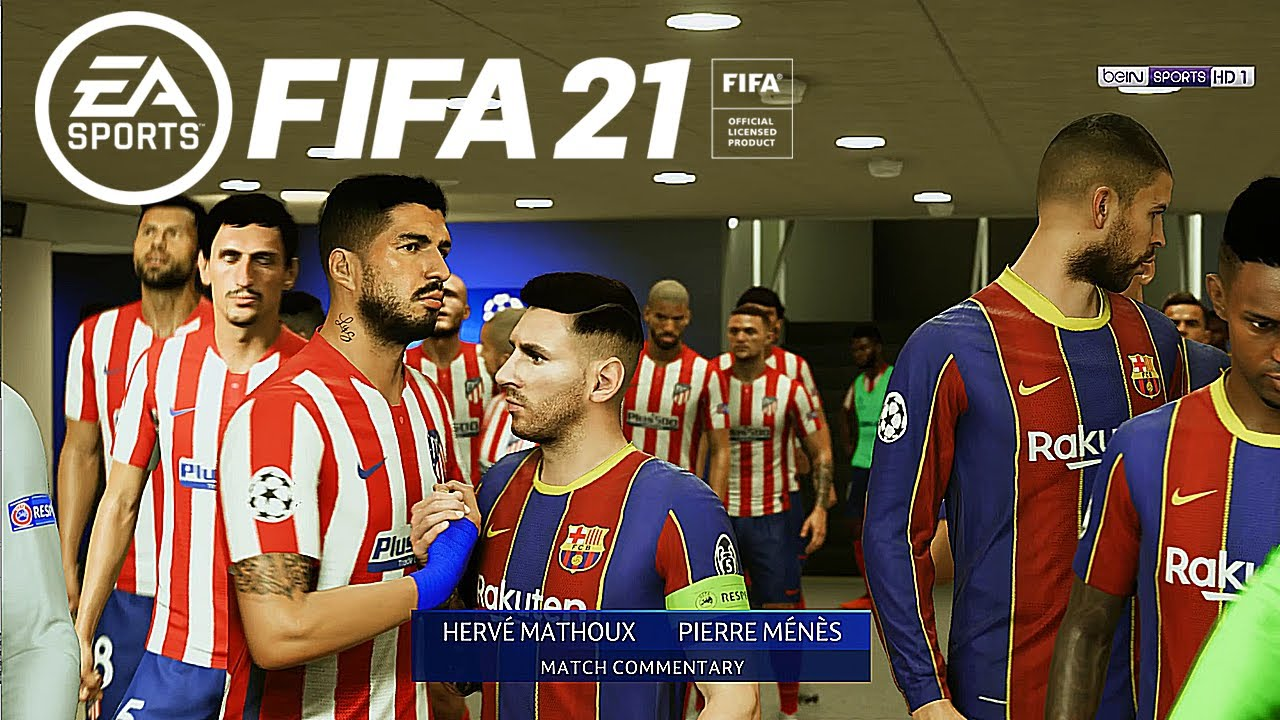 ATLETICO MADRID - FC BARCELONA // Champions League 2021 FIFA 21 Gameplay PC 4K Next Gen MOD