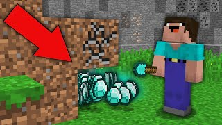 Minecraft NOOB vs PRO: NOOB MINED DIRT BUT DROP DIAMONDS! Challenge 100% trolling