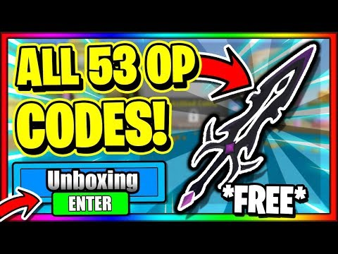 ALL *53* NEW SECRET OP WORKING CODES! Roblox Unboxing Simulator