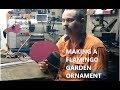 Making A Flamingo Garden Ornament