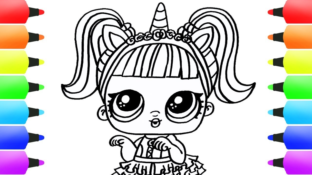 UNICORN LOL DOLL TOY AWESOME Coloring Book Video! Easy ...