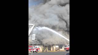 Broken Bow Ok.Fire burns Old Passmore Store3-28-13