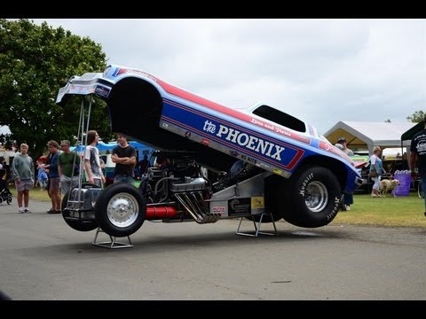 """The Phoenix"" Nitro Funny Car Warmup at Kumeu"
