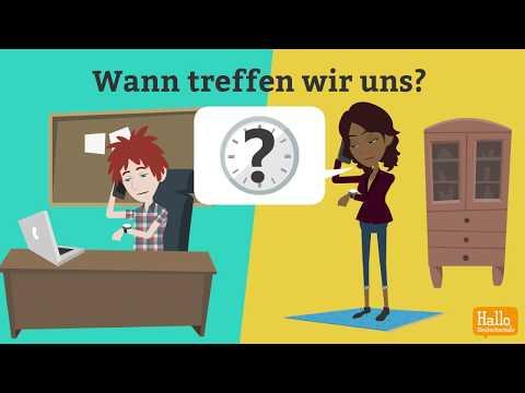 Deutsch lernen mit Dialogen / Lektion 9 / Was kannst du gut? / Uhrzeit