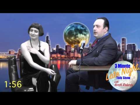 Louise Brooks Silent Film Star on 3min Late Night talk