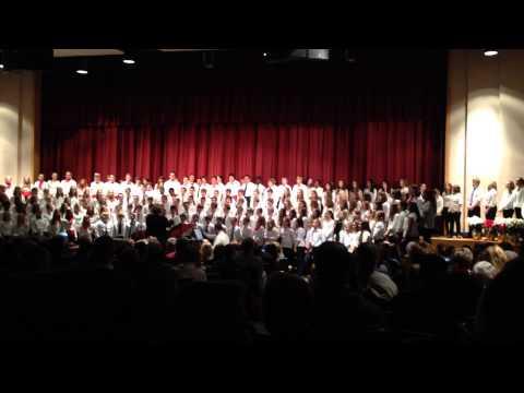 Lenape Middle School 7 8 9th grade choir sings Mr Grinch