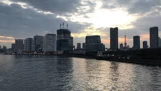 環状2号線、築地大橋から見た東京湾岸の様子 2018.11.11