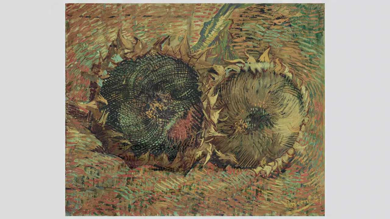 Vincent Van Gogh Sonnenblumen 1887 Youtube