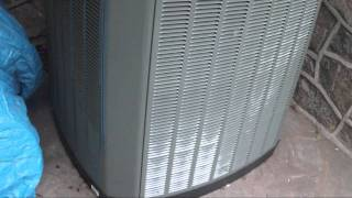 2010 Trane XR15 4-ton air-conditioner running