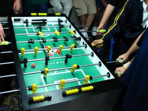 4 on 4 foosball fun with 8 of the Best Players In The World!