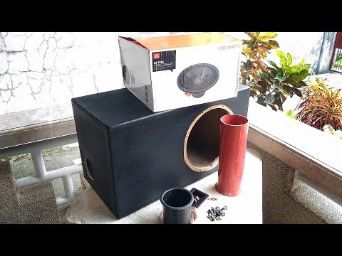 DIY How to Coarse Texture Paint Subwoofer