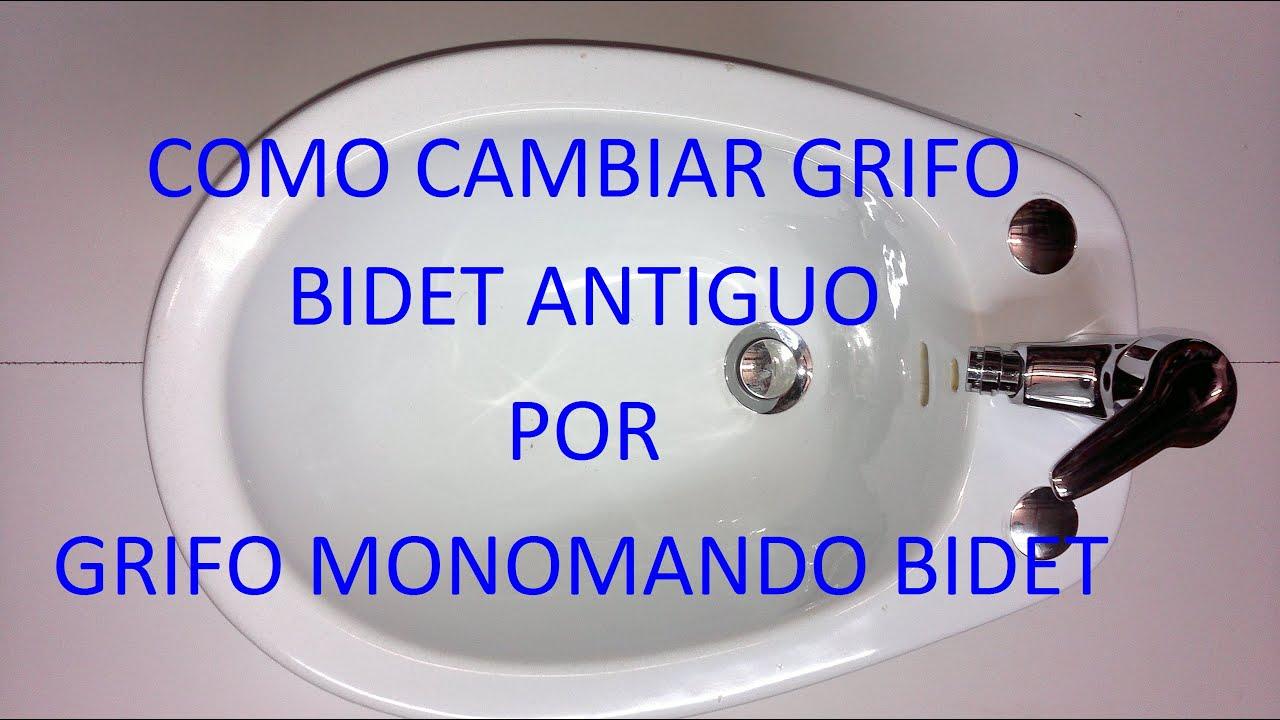 Como cambiar grifo bidet antiguo por grifo monomando bidet for Grifos antiguos de pared