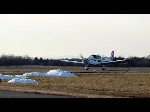 Grumman Tiger, N4524M, departing KHWY on 1/23/10 at 1555