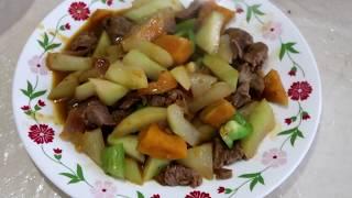 BEEF WITH UPO AND KALABASA RECIPE WITH PANLASANG MAMAMAYANG