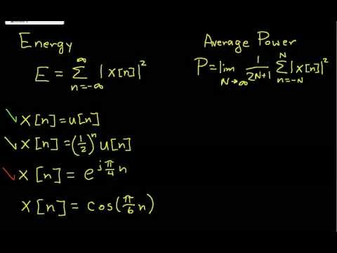 DT Signal Property-Energy and Power Part 2.