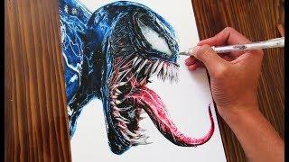 Cómo Dibujar a Venom Realista 2018 | How to draw Realistic Venom | ArtiZ HD