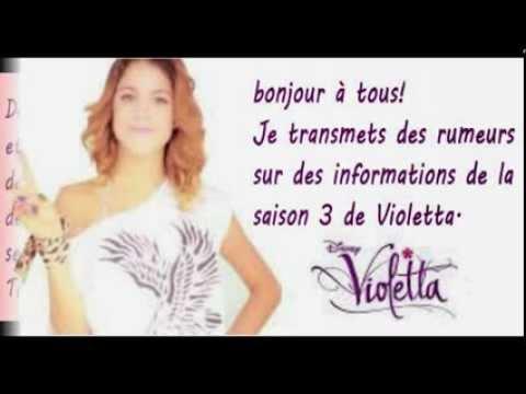 Violetta saison 3 rumeurs youtube - Coloriage violetta saison 3 ...