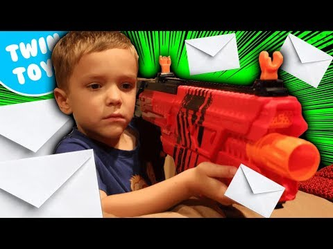 Nerf War:  Mail Time Mayhem 14