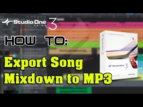 How To: Export Song Mixdown to MP3 With Studio One Prime