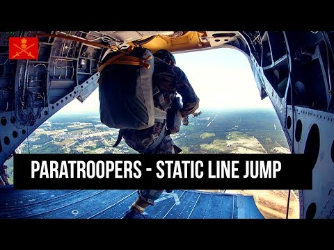 Indian Army and U.S Army Paratroopers Static Line Jump From C-17