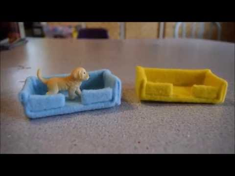How to Make a Dog Bed for a Schleich Dog - YouTube