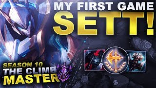 MY FIRST GAME ON SETT! - Season 10 Climb to Master | League of Legends