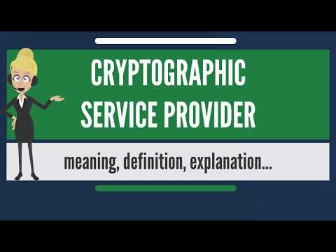 What is CRYPTOGRAPHIC SERVICE PROVIDER? What does CRYPTOGRAPHIC SERVICE PROVIDER mean?