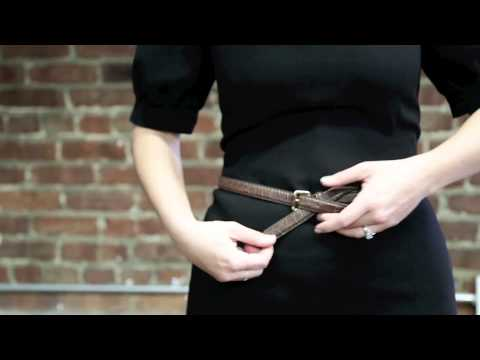 comment nouer une ceinture trop grande how to knot a belt that is too big youtube. Black Bedroom Furniture Sets. Home Design Ideas
