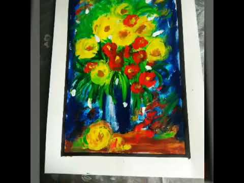 Step by step abstract painting with fingers || easy and quick acrylic finger painting || art therapy