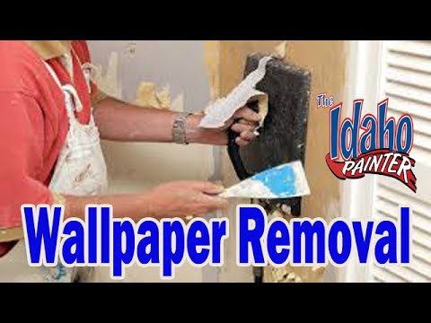 How to remove wall paper from drywall. Wallpaper rremoving ...