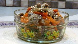 Хе из говядины – простой и вкусный салат из сырого мяса