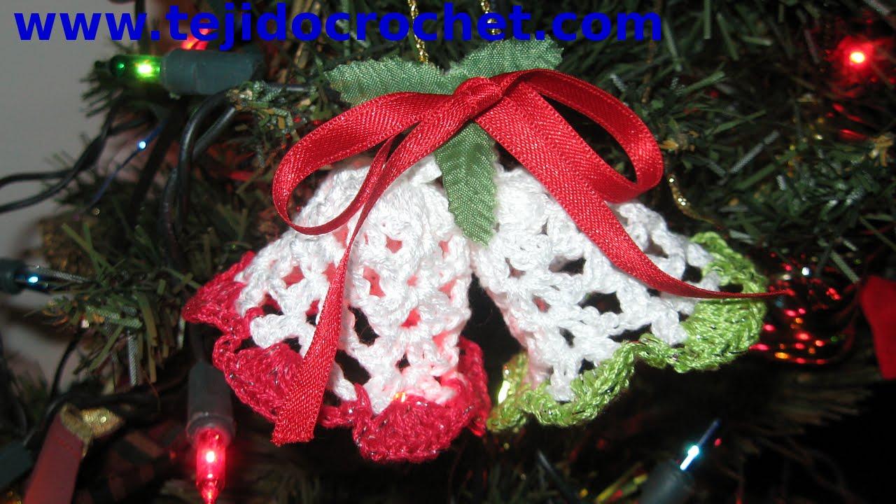 Campanas de navidad en tejido crochet tutorial paso a paso for Cosas decorativas para navidad