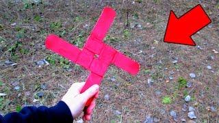 видео как сделать из бумаги бумеранг