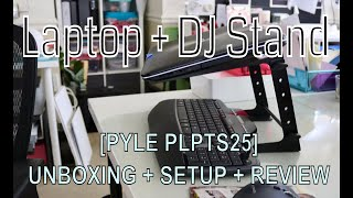 Unboxing Setup Review of Pyle Laptop Computer Stand PLPTS25