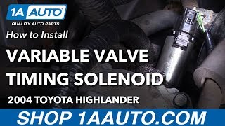 Het Vervangen van Variabele kleptiming Solenoïde 01-07 Toyota Highlander L4 2.4 L