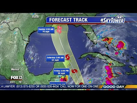 Tropical Storm Nate forecast: Thursday morning