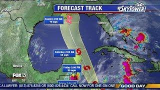 Tropical Storm Nate forecast: Thursday morning