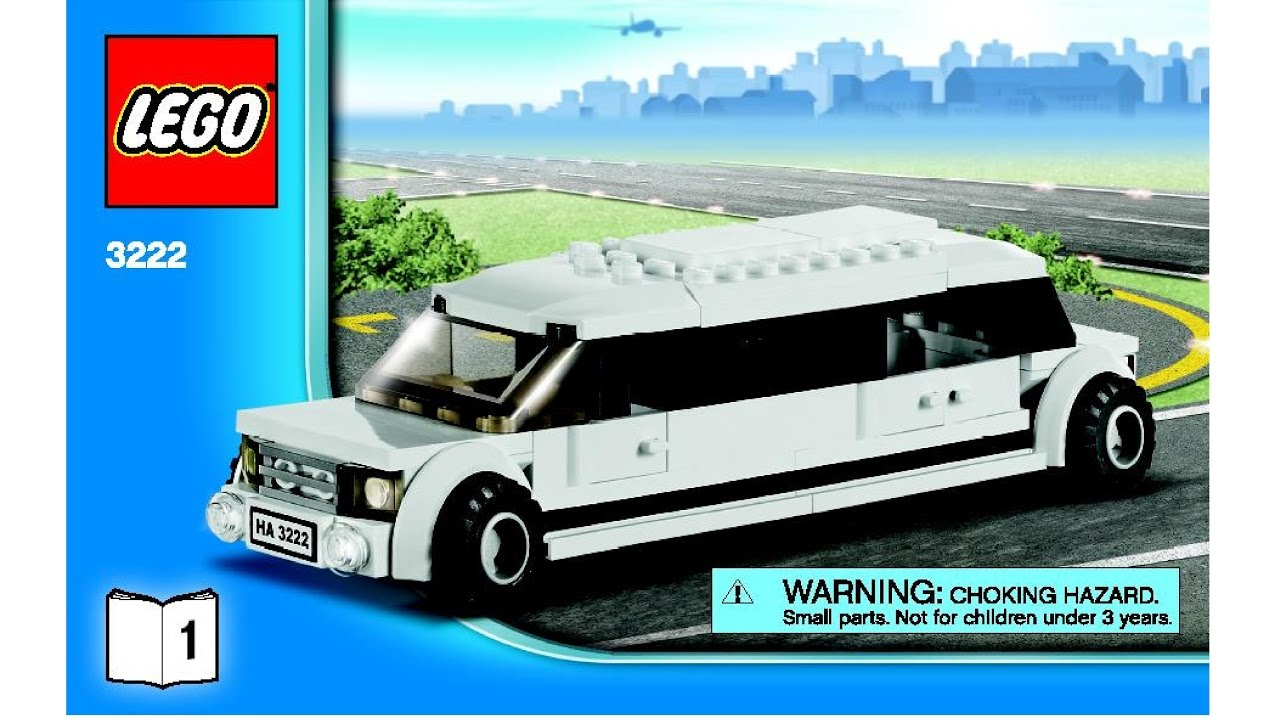 Lego City Helicopter Limousine 3222 Instructions Diy Book 1 Youtube