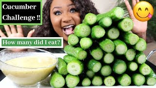 CUCUMBERS MUKBANG CHALLENGE , EATING SHOW | KC CONNECTION