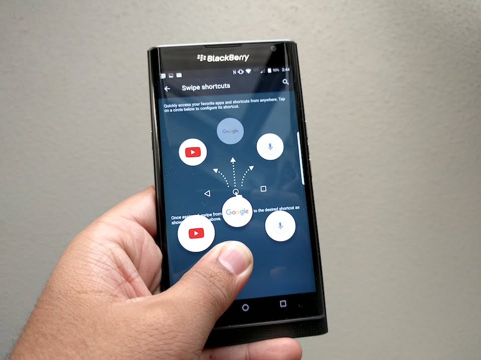 Swipe gestures like on the PRIV? - BlackBerry Forums at