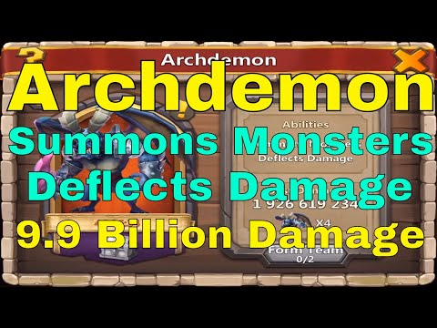 Castle Clash Archdemon Summons Monsters Deflects Damage Breakthrough 30 Team
